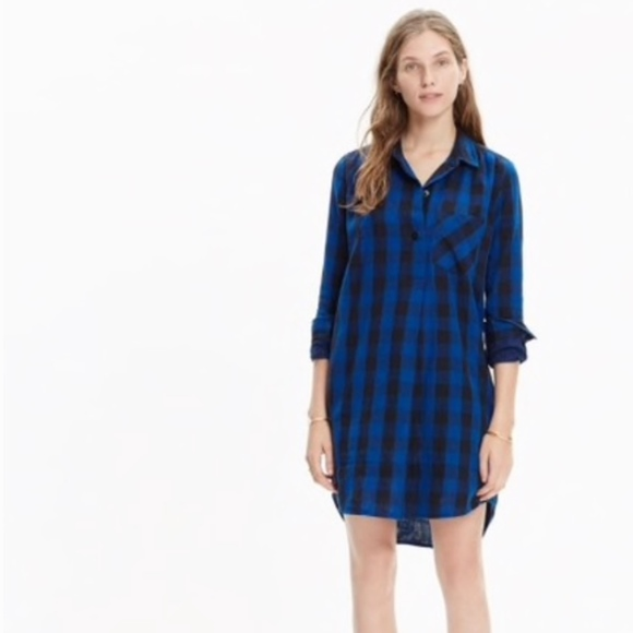 3a3be7ed7b Madewell Dresses   Skirts - Madewell latitude shirtdress in buffalo check L